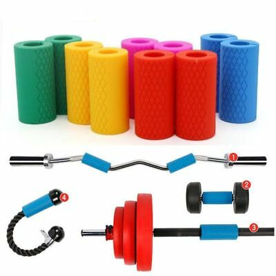 Dumbbell Grips Thick Bar Handles Silicone Anti-slip Weightlifting Grip Support