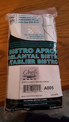 Bistro Apron Chef Apron 4 sided CHEFS Brand 30x30