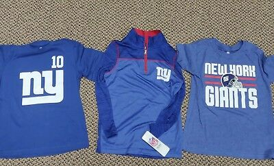 BUNDLE 3 Shirts!! NY Giants NFL Team Apparel Youth Size Small New MSRP  55 772e701e9