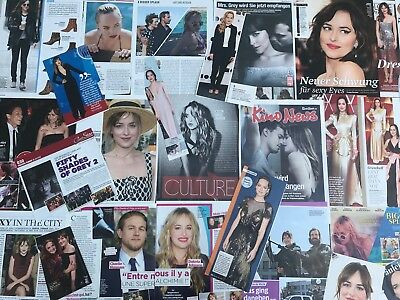 DAKOTA JOHNSON SAMMLUNG 60+ Clippings LOT POSTER 2012-18 Fifty Shades Of Grey