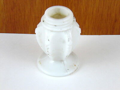 Antique Victorian milk glass white salt or pepper shaker No Lid