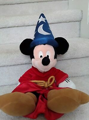 "Disney Store Sorcerers Apprentice 21""Mickey Mouse Plush Stuffed Animal"