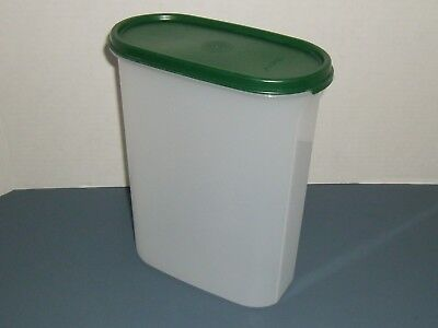 Tupperware Modular Mates Container # 1614 with Hunter Green Lid # 1616