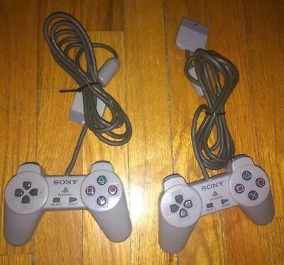 Lot Of 2 PlayStation 1 Controller PS1 Original Official Digital TESTED