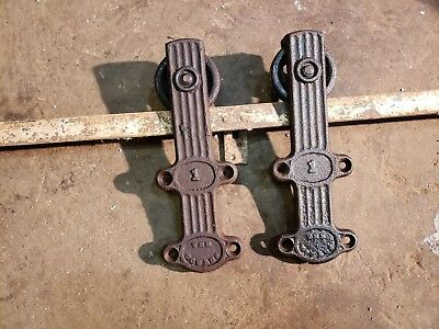 Antique Rustic Barn Door Rollers + Track Hardware Sliding Door Pantry Shop