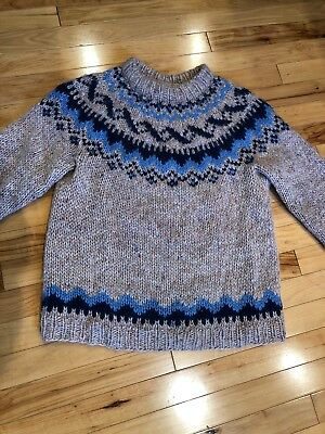 dd80e224189 Icelandic Alafoss Icewool Sweater 100% Pure Wool Size Small - Made In  Iceland
