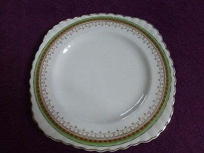 Vintage Green Sol 391413 J&g Meaking Square Dinner Plate