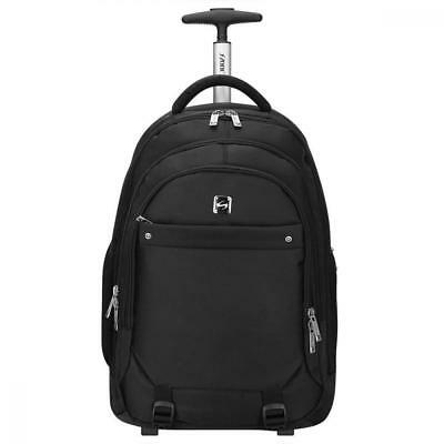 593754078d75 S-ZONE Wheeled Shops Backpack Rolling Carry-on Luggage Travel Duffel Bag
