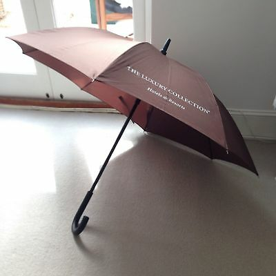 Brown The Luxury Collection Hotels & Resorts Umbrella * Good Condition *