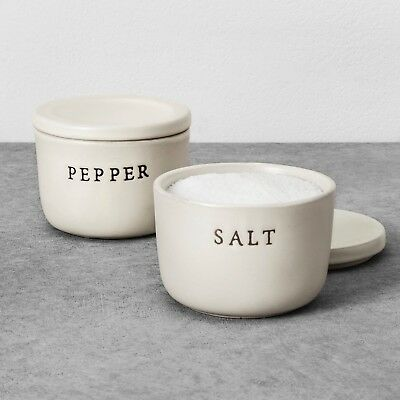 Hearth and Hand with Magnolia Salt & Pepper Stoneware Cellar Set Sold Out