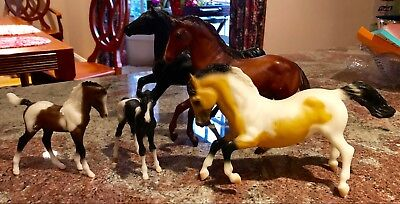 Lot Of Five Vintage Breyer Horses  Various Sizes - All For One Price Lot