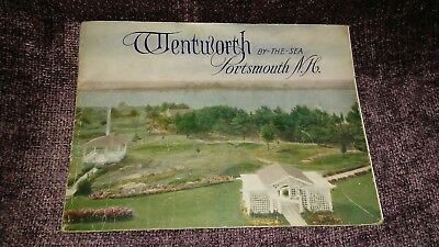 """Vintage Wentworth By the Sea Portsmouth NH Souvenir photo book """"invites you"""" adv"""