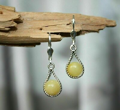 BALTIC AMBER EARRINGS BUTTERSCOTCH COLOR 925 STERLING SILVER - Pendant available