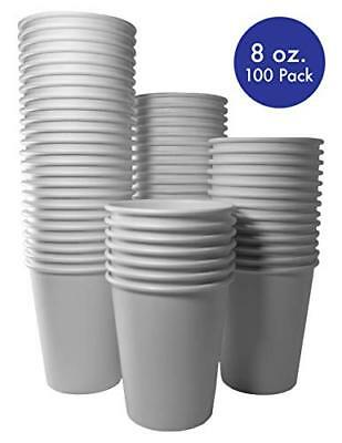 8 oz. White Paper Hot Cups [100 Pack]