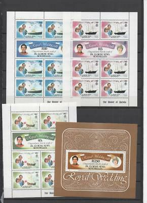 Seychelles Qe2 Royalty Mnh  Sheets /stamps On 5 Pages