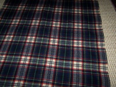 "Troy Robe Wool Plaid Tartan Blanket Throw Red Black Navy Green White 52"" x 55"""