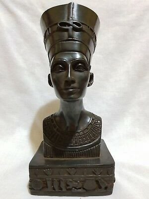 Rare Ancient Egyptian ANTIQUE Bust Statue Of Queen NEFERTITI EGYPT STONE 1350 BC