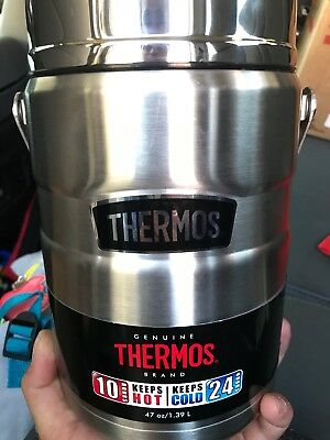 Thermos 47 Oz King Vacuum Food Jar Containers Stainless Steel Insulated New