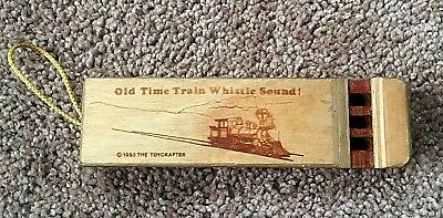 """1983 THE TOYCRAFTER 1983 Old Time Train Whistle 6"""" long Wood"""