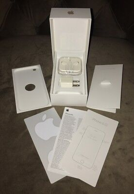 Apple iPhone 6s 64GB Rose Gold EMPTY BOX Accessories Inserts EarPods Stickers