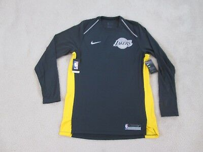 e09c54a50 NIke Authentic NBA Los Angeles LAKERS Dri-Fit Shooting Charcoal Jersey Men  L NEW
