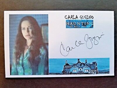 """""""THE HAUNTING OF HILL HOUSE"""" CARLA GUGINO Autographed 3x5 Index Card"""