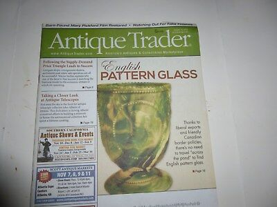 Antique Trader Magazine - Oct. 16, 2013 - English Pattern Glass; Telescopes