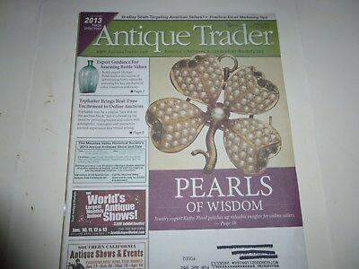 Antique Trader Magazine - Jan. 9, 2013 - Pearls; Bottle Values