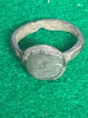 ancient roman ring, Bronze Ring (silver Plated ), Inner Diameter 13mm