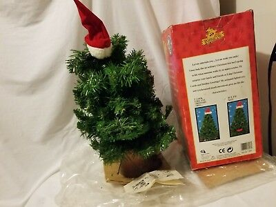 "Gemmy 16"" Dancing Douglas Fir Talking Singing Christmas Tree BOX SOLD FOR PARTS"