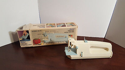 Vintage Cordless Hand Held Portable Sewing Machine By RONCO 1973 Tested/Works