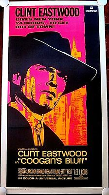 Cut $100 Coogan's Bluff '68 Lb 3 Sh Poster Eastwood In Nyc  Inspired Mcloud!
