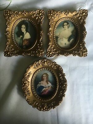 Vintage Cameo Creation Set of 3 By George Romney