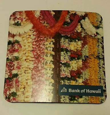Bank of Hawaii Mouse Pad Flowers Leis