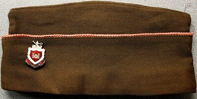 Authentic WW II Army Dress Hat with Color Piping, Push-Pin Combat Engineers