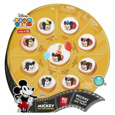 Disney Tsum Tsum Mickey 90th Through the Years Gift Set 10Pcs Target Exclusive