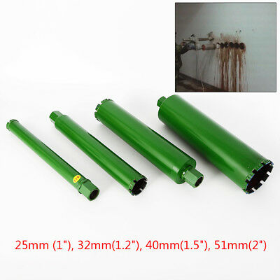 "4* Wet Diamond Core Drill Bit for Concrete-Premium Green 1"",1.2"",1.5"", 2"" US HOT"