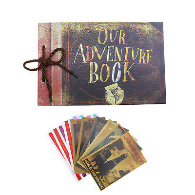 DIY Anniversary Scrapbook Vintage Photo Album Our Adventure Book Gift 80 Pages