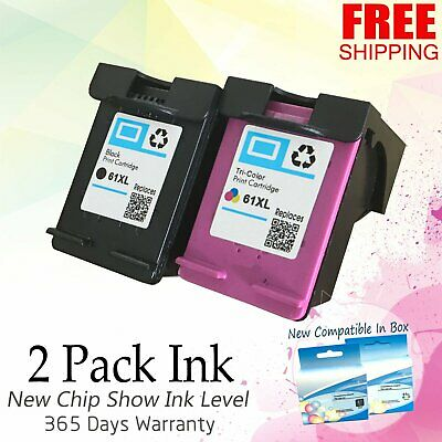 2x Black & Color Ink For HP 61 61XL Officejet 2620 2622 4630 4632 4634 4635 8040