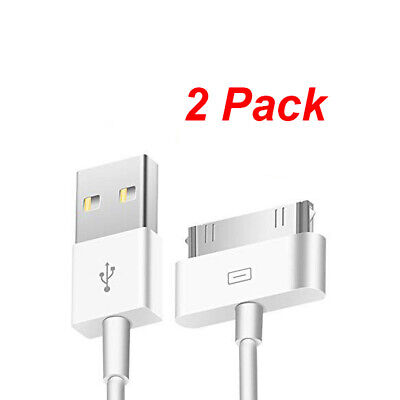 2 USB Sync Data Charger Cable Cord for Old iPod iPhone 3 4 4th iPad 1 2 3rd Gen