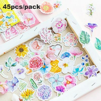 Flakes Self Adhesive Flower Stickers Masking Diary Decor Scrapbook Tags