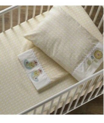 Living Textiles Scarlett 3pce Cot Set 100%Cotton Boori Size High Quality.