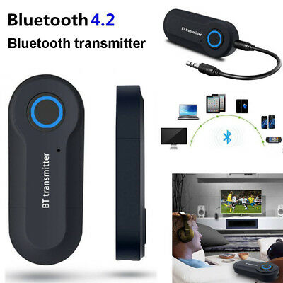 Wireless Bluetooth Transmitter Stereo Music 3.5mm Audio Adapter for TV Phone PC~