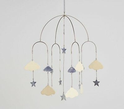 NEW OPEN BOX - POTTERY BARN KIDS Stars and Clouds Ceiling Mobile Baby Nursery