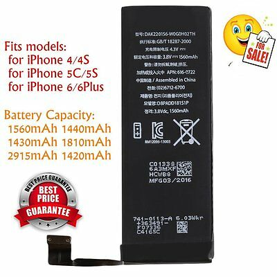 1560mAh Li-ion Battery Replacement Part with Flex Cable for iPhone 5S/5C New EA