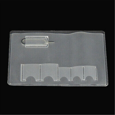 SIM Card Holder Storage Case For 5 Micro Sizes SIM Cards And Iphone Eject Pin