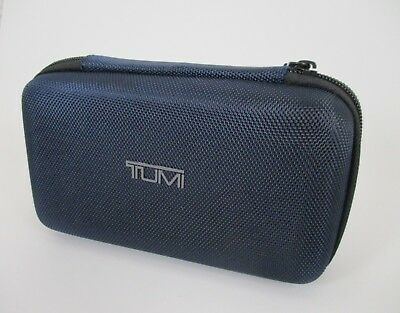 Tumi For Delta Blue Zippered Case Toiletry Bag Excellent Preowned Condition