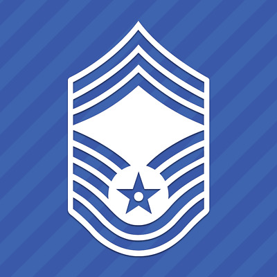 Air Force Chief Master Sergeant E-9 Symbol Vinyl Decal Sticker