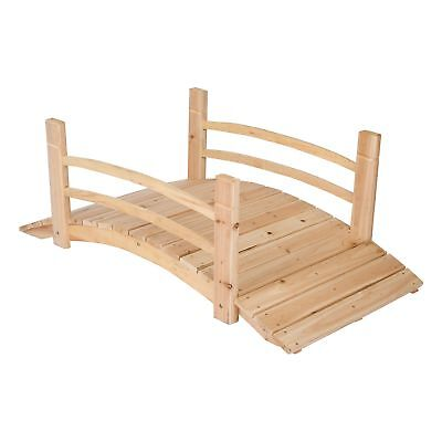 "4 Feet Yellow Cedar Garden Bridge 600 lbs Capacity 48.5""L x 26.25""W x 18.25""H"
