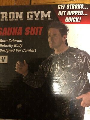 NWB Unisex Black IRON GYM Fit TRAINING SAUNA SUIT SIZE S-M